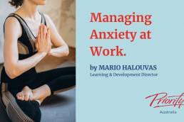 Manage anxiety at work